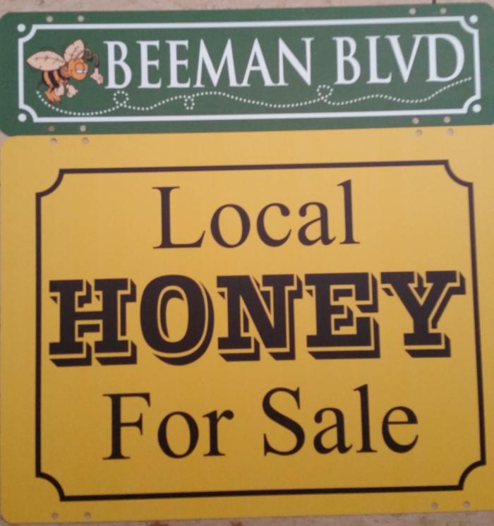 honey for sale sign